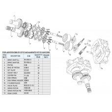 Насос гидравлический для Caterpillar CAT215, CAT225