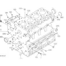Блок цилиндров Kubota V3600