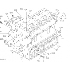 Блок цилиндров Kubota V4000