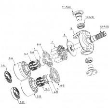Насос гидравлический для Caterpillar E315B, E320B, E315C, E320C