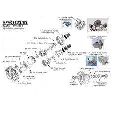 Насос гидравлический для Hitachi EX100-2, EX100M-2, EX120-3