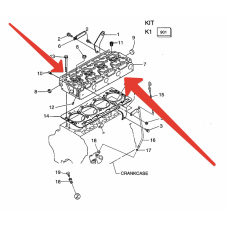Головка блока цилиндров Kubota V 3300