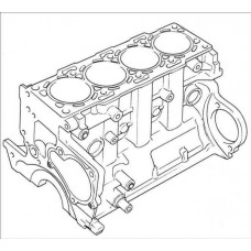 Блок цилиндров Isuzu 4BC2